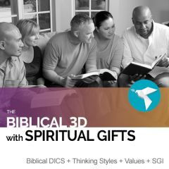 The Biblical 3D Report with Spiritual Gifts Inventory: DISC, TEAMS, Values and SGI (online)