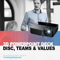 PowerPoint Instruction: The 3D Report: DISC + TEAMS + Values (Download)