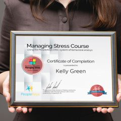 Certificate Managing Stress Completion