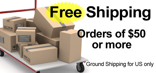 Free shipping on orders of $50 or more!