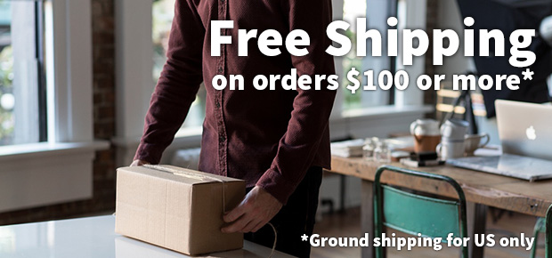 Free shipping on orders of $100 or more!